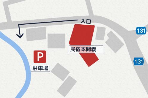 駐車場までの地図